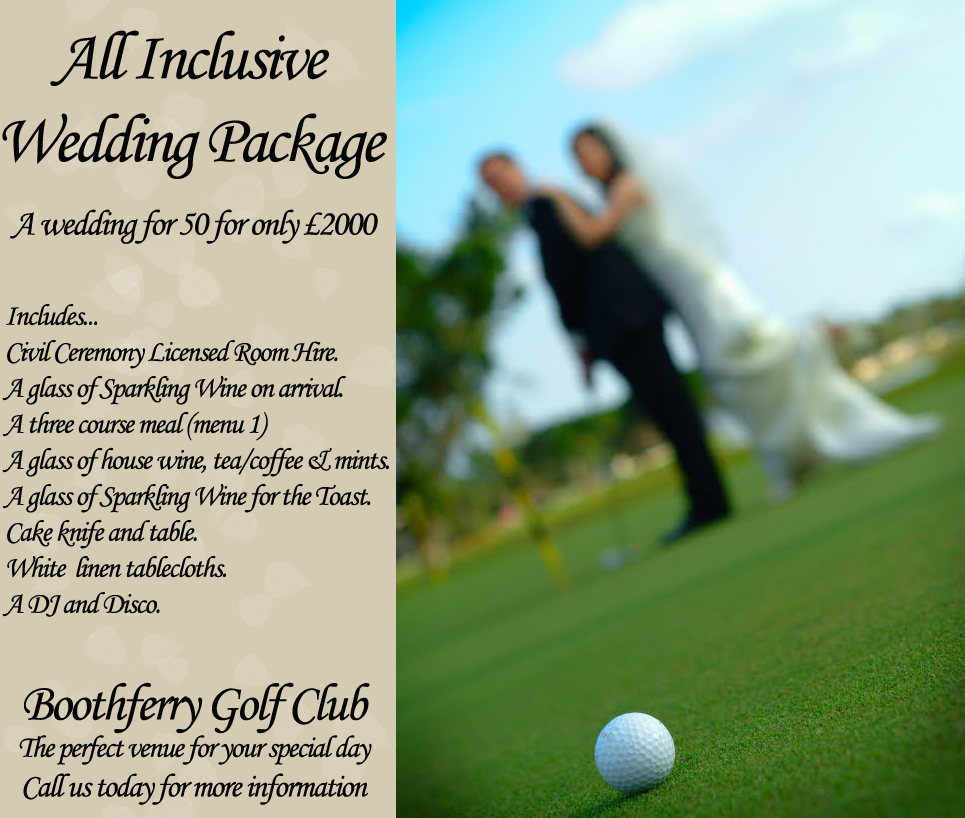 All Inclusive Wedding Venue Package